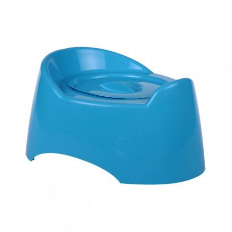"""Горшок туалетный детский """"Малышок"""" с крышкой (голубой) М1324"""