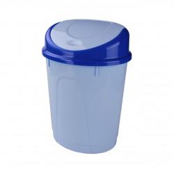 Контейнер для мусора 8л. (овальный) (голубой мрамор) М1377