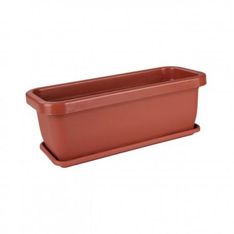 Ящик для цветов с поддоном 360х150х125 мм М303