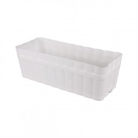 Ящик для цветов 12 л с поддоном белый М3356