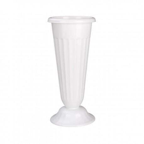 Ваза для цветов под срезку (D210мм, выс440мм)(белый)